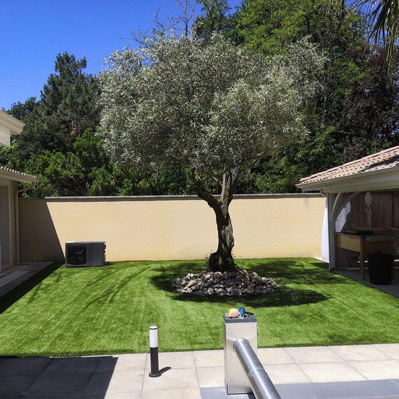 Pose de pelouse synthétique Audenge Lanton Andernos Lège Cap Ferret